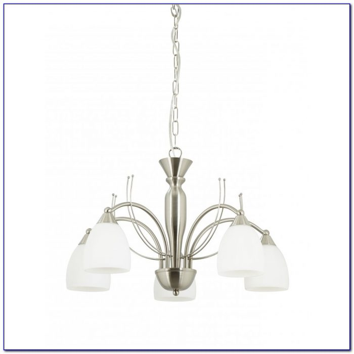 Brushed Nickel Ceiling Light Fan