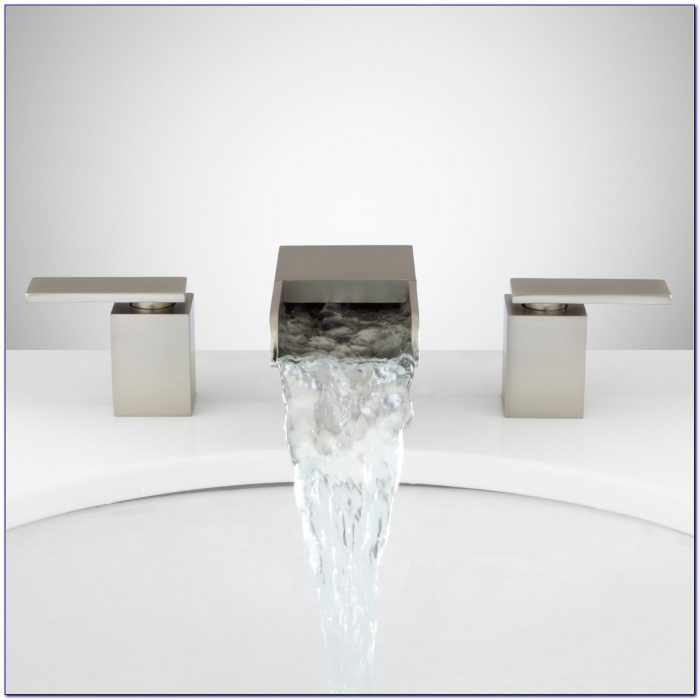 Brushed Nickel Waterfall Sink Faucet