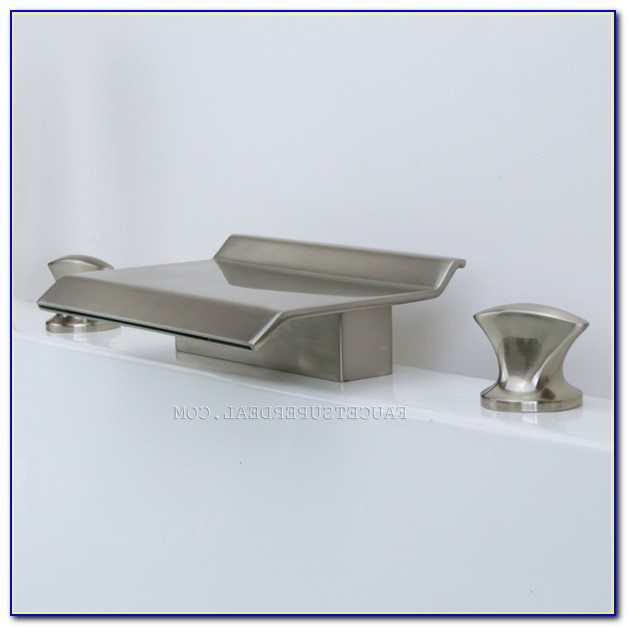 Brushed Nickel Waterfall Tub Spout