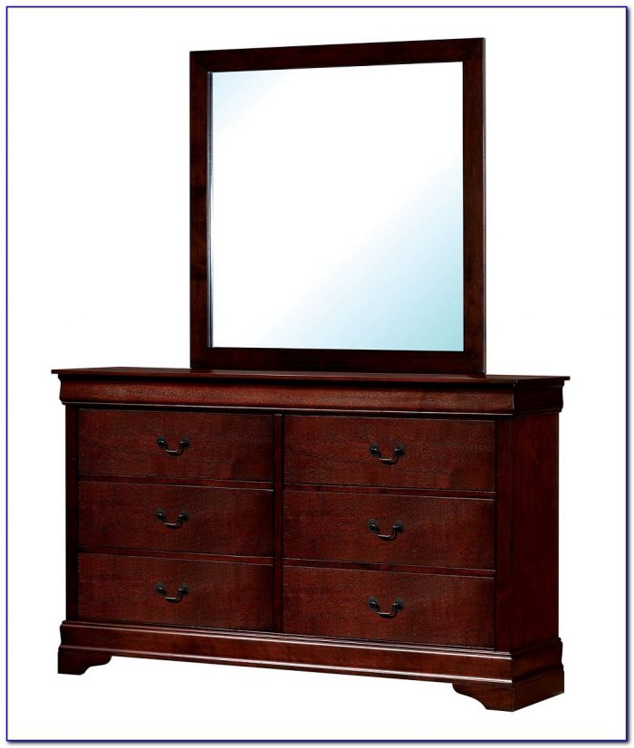 Cherry Oak Dresser With Mirror