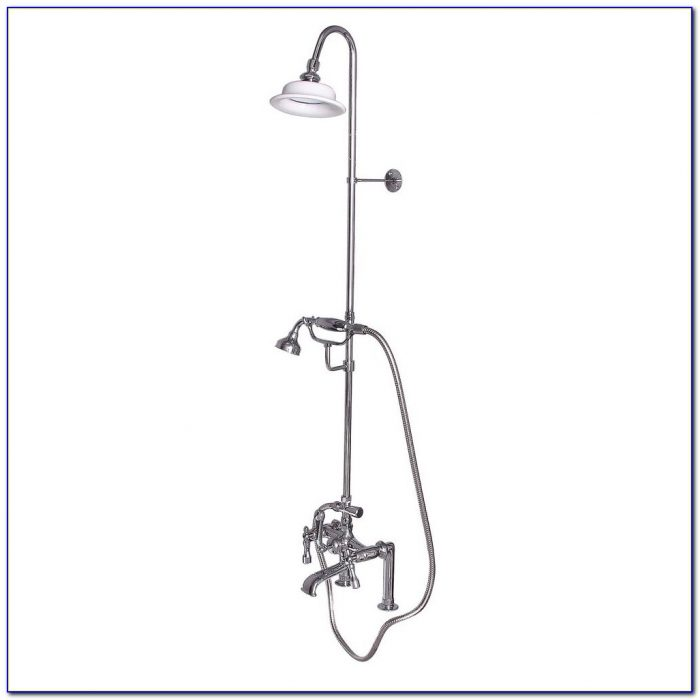 Clawfoot Tub Faucet With Riser Clawfoot Tub Faucet With Riser Pegasus 2 Handle Claw Foot Tub Faucet With Hand Shower In Polished 1000 X 1000