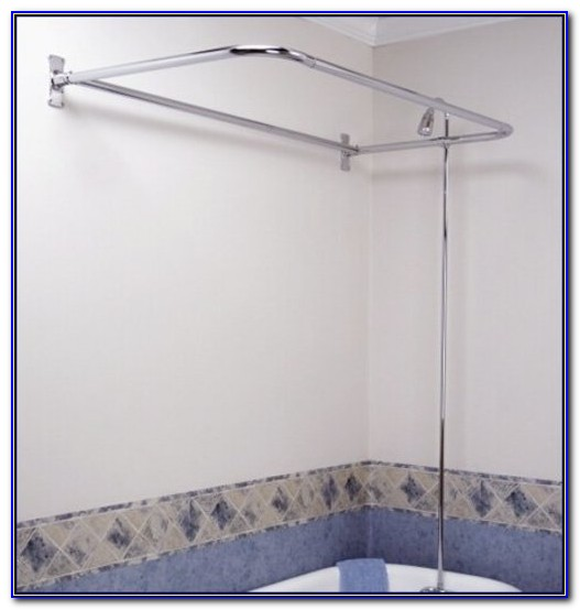 Clawfoot Tub Faucet With Shower Riser