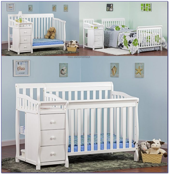 Crib With Dressing Table Attached