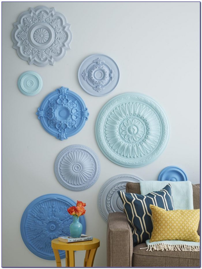 Decorating With Ceiling Medallions On Wall