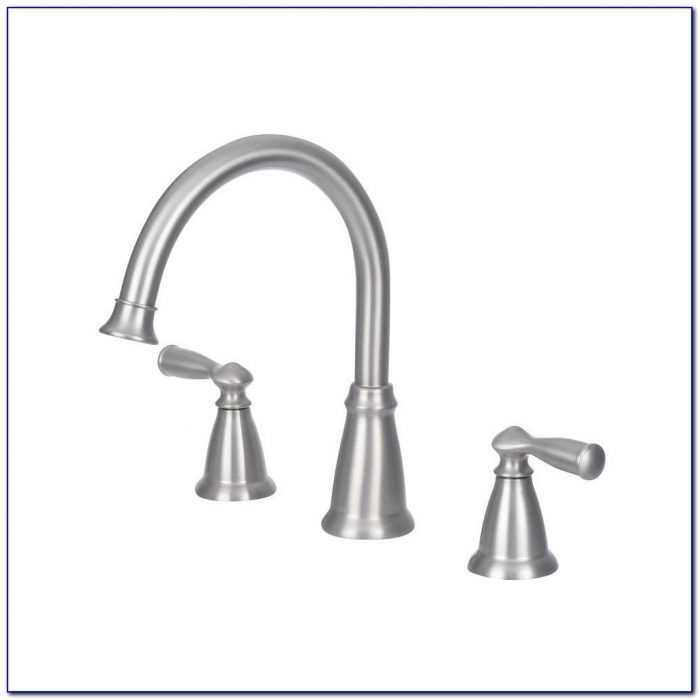 Delta Brushed Nickel Pull Down Kitchen Faucet - Faucet