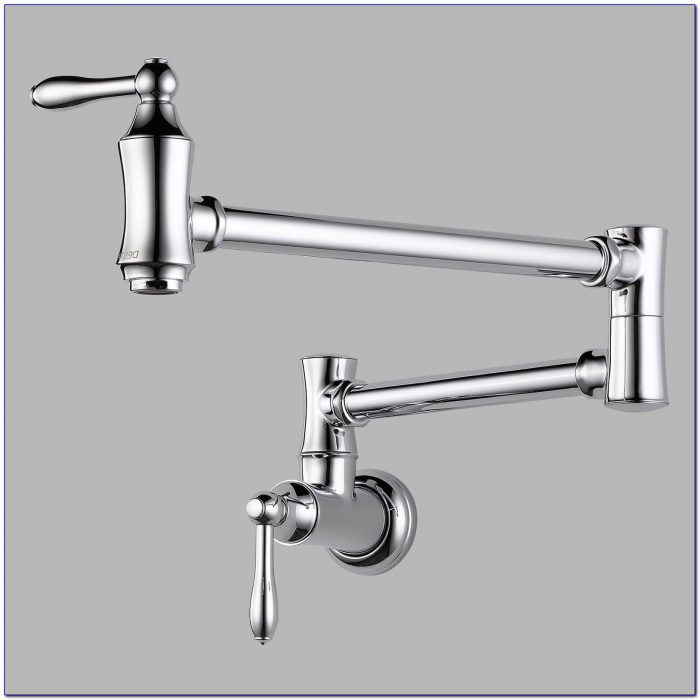 Delta Wall Mount Kitchen Faucet With Spray