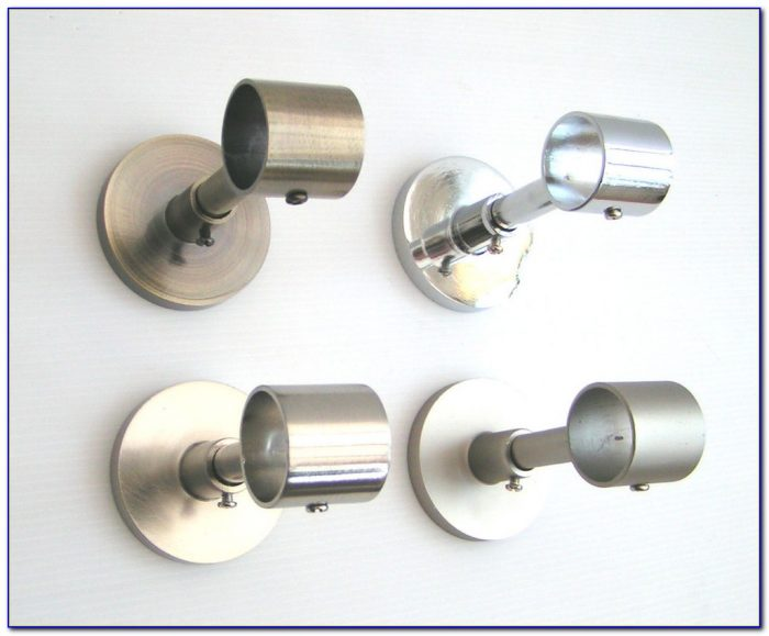 Double Curtain Pole Ceiling Mount