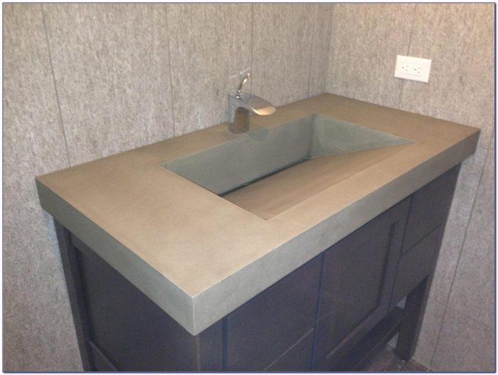 Double Faucet Undermount Trough Sink