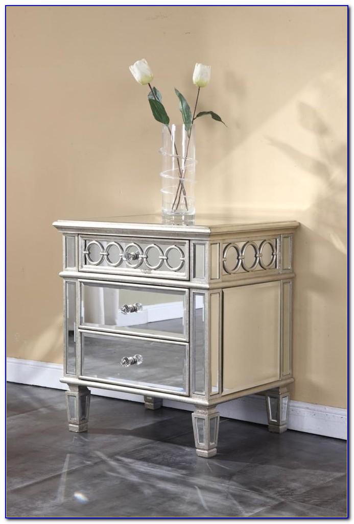 Dresser Mirror And Nightstand Set