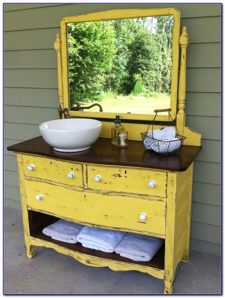 Dresser Used For Bathroom Vanity