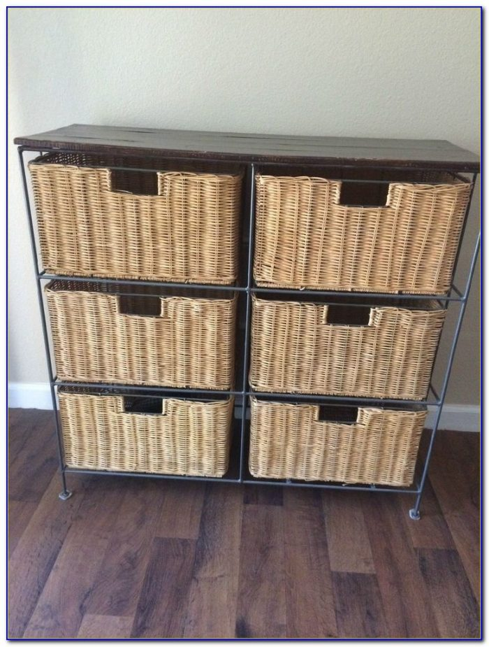 Dresser With Wicker Basket Drawers