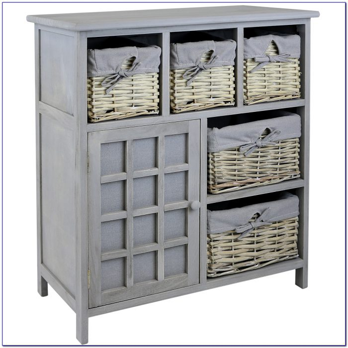 Dresser With Wicker Baskets