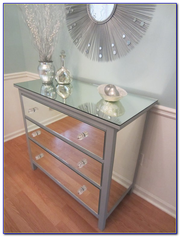 Dressing Table With Mirrored Drawers