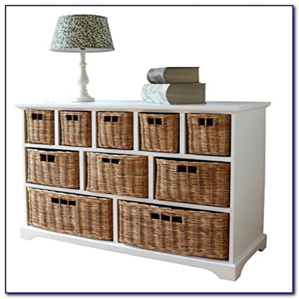 Dressing Table With Wicker Baskets