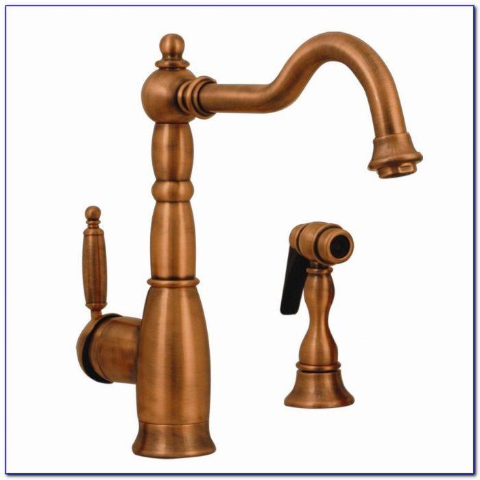 Fontaine Antique Copper 4 Hole Kitchen Faucet