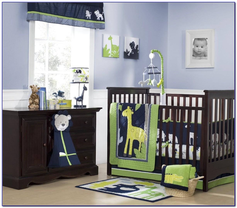 Grey Baby Crib And Dresser