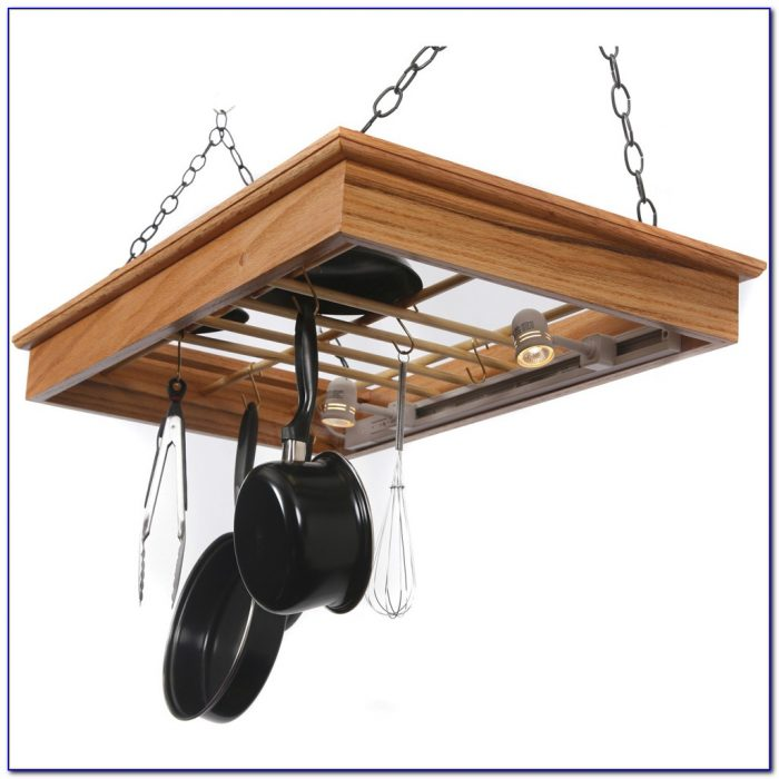 Hanging Racks For Pots And Pans In Kitchen