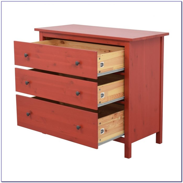 Ikea 8 Drawer Dresser Red