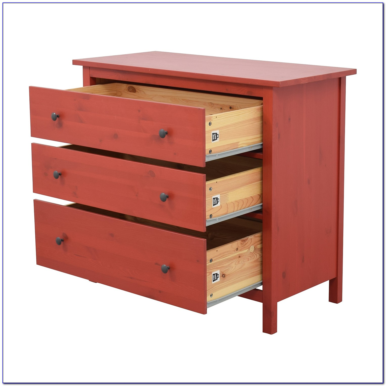 Ikea 8 Drawer Dresser Red