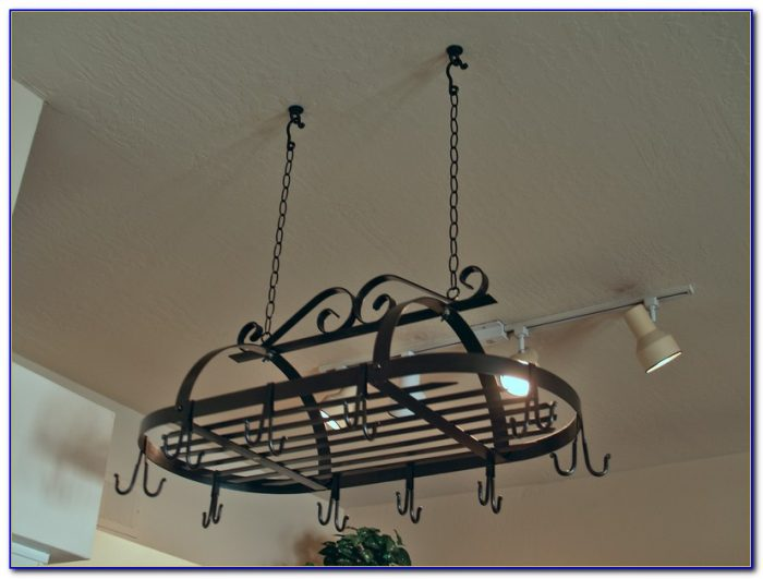 Install Pot Rack Ceiling Mount