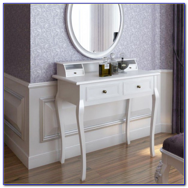 Makeup Vanity With Mirror And Chair