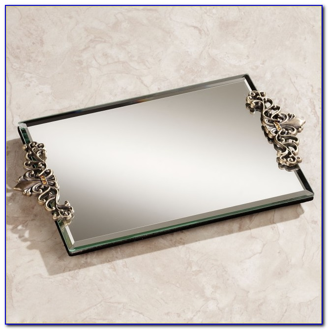 Mirrored Vanity Trays For Dresser