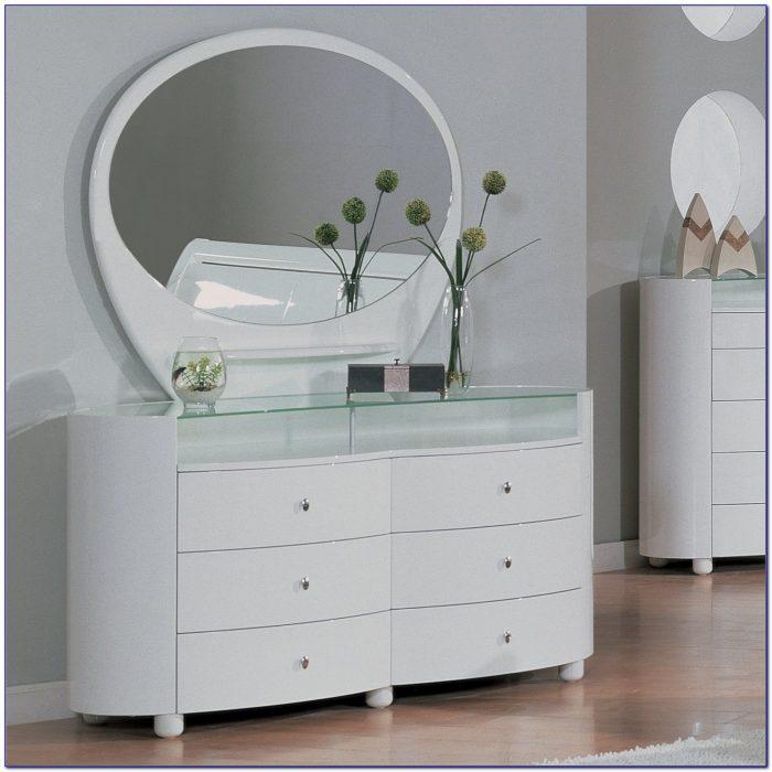 Modern Dresser Mirror Set