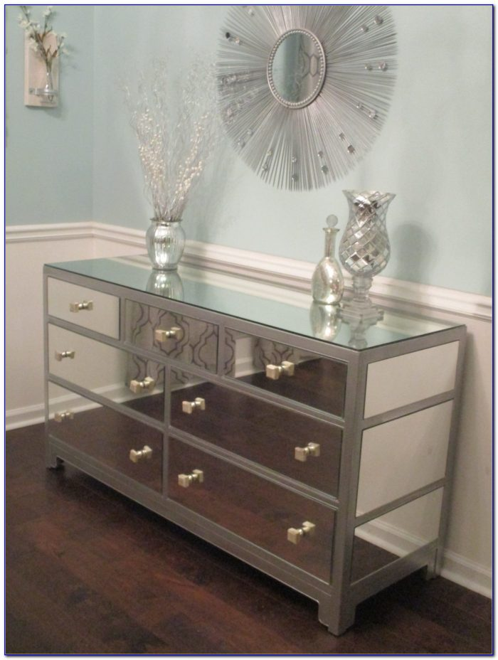 Modern Dresser With Mirror And Chair