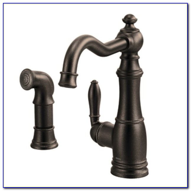 Moen Brantford Kitchen Faucet Stainless Lovely Rubbed Bronze Faucets With A Stainless Steel Sink