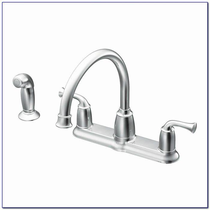 Moen White Kitchen Faucet Elegant Moen Banbury 2 Handle Mid Arc Standard Kitchen Faucet With Side