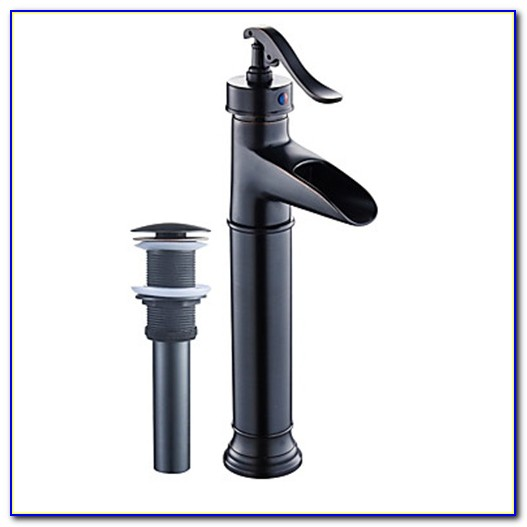 Oil Rubbed Bronze Roman Tub Waterfall Faucet