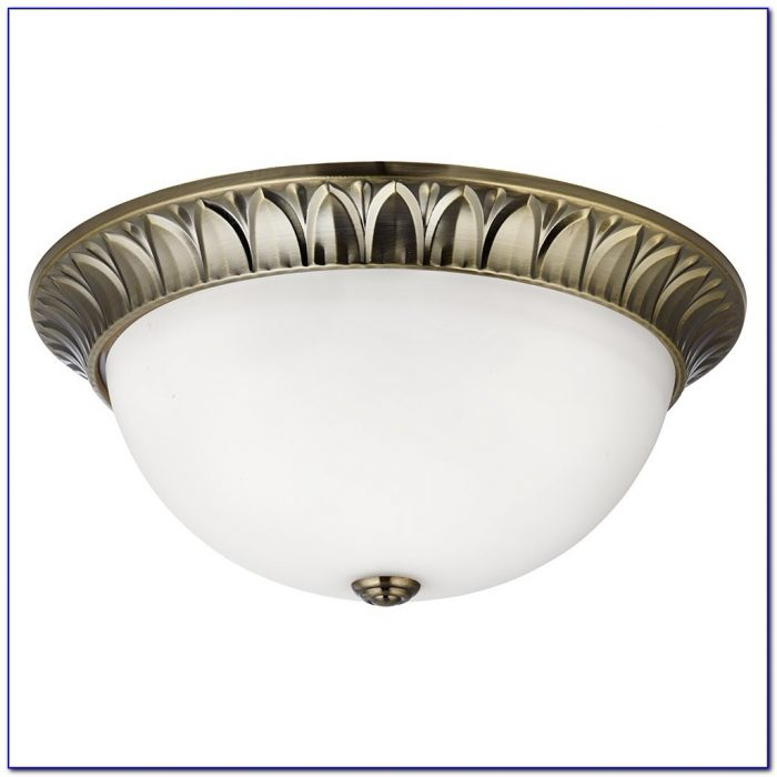 Polished Brass Flush Ceiling Lights