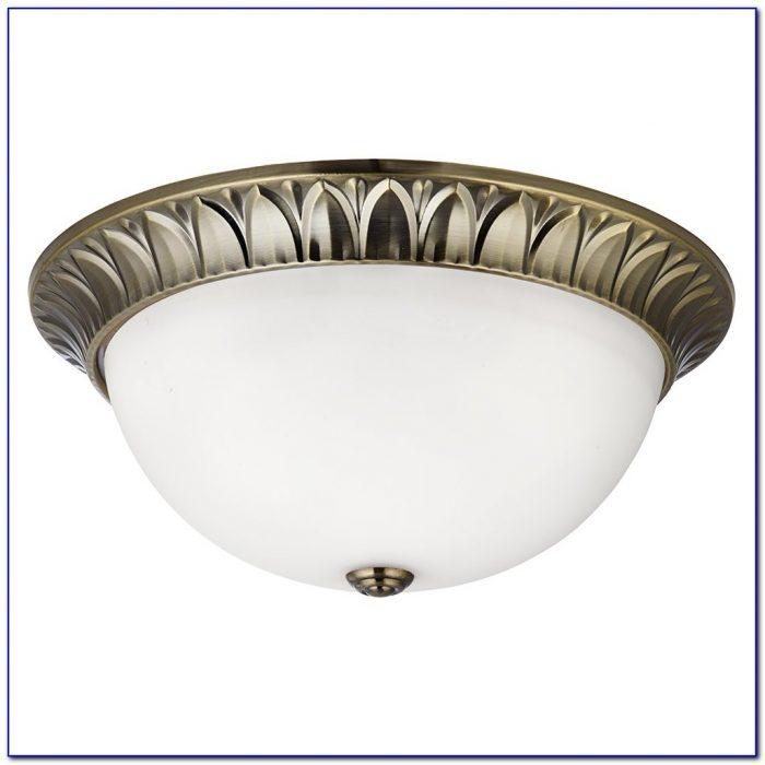 Polished Brass Flush Ceiling Lights