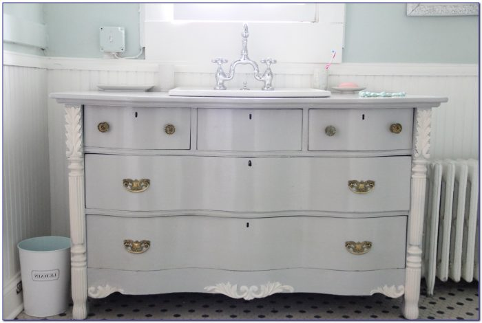 Repurposing Dresser For Bathroom Vanity