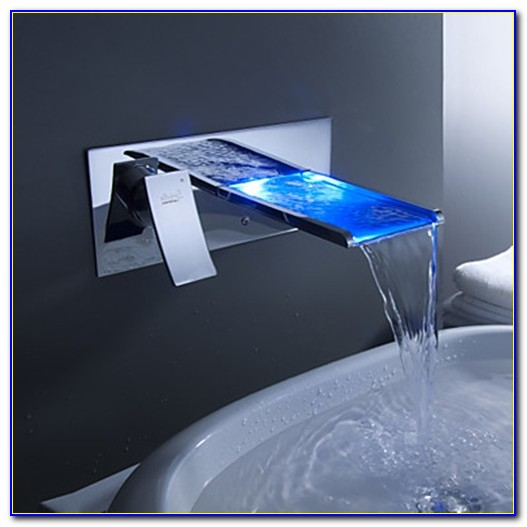 Reston Wall Mount Waterfall Tub Faucet