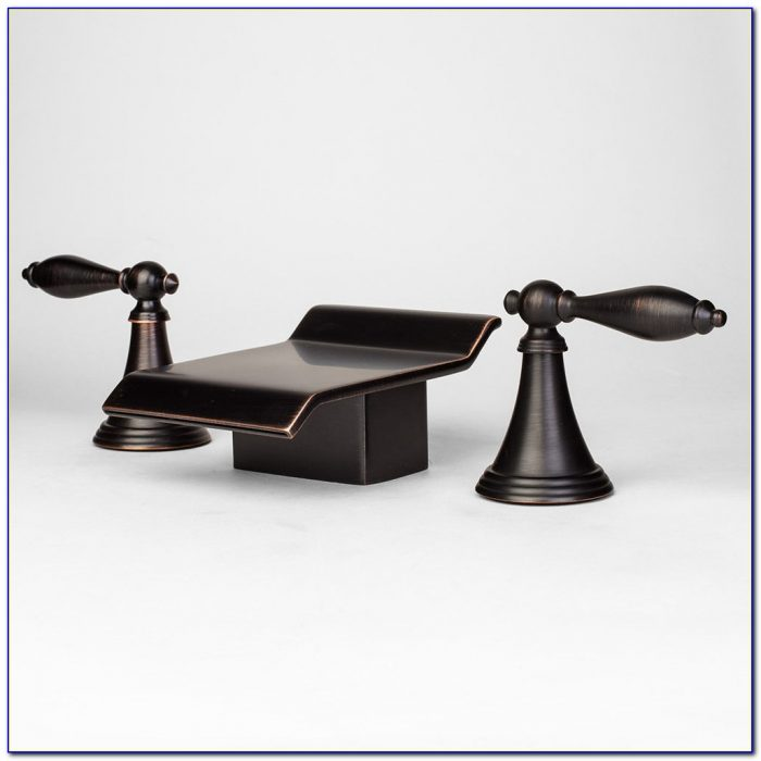Rubbed Bronze Waterfall Bathroom Faucet