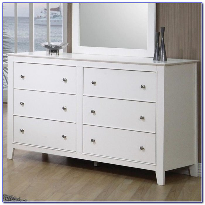 Six Drawer White Dresser