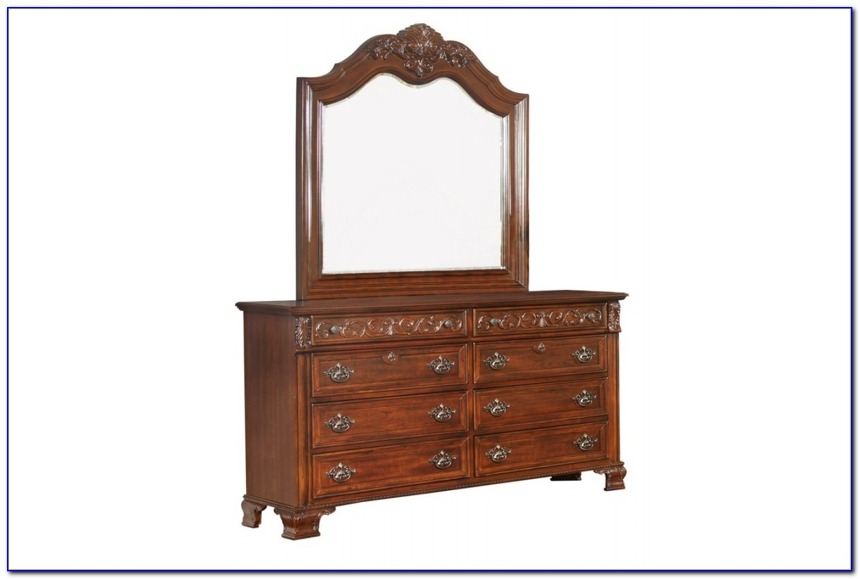 Small Cherry Dresser With Mirror