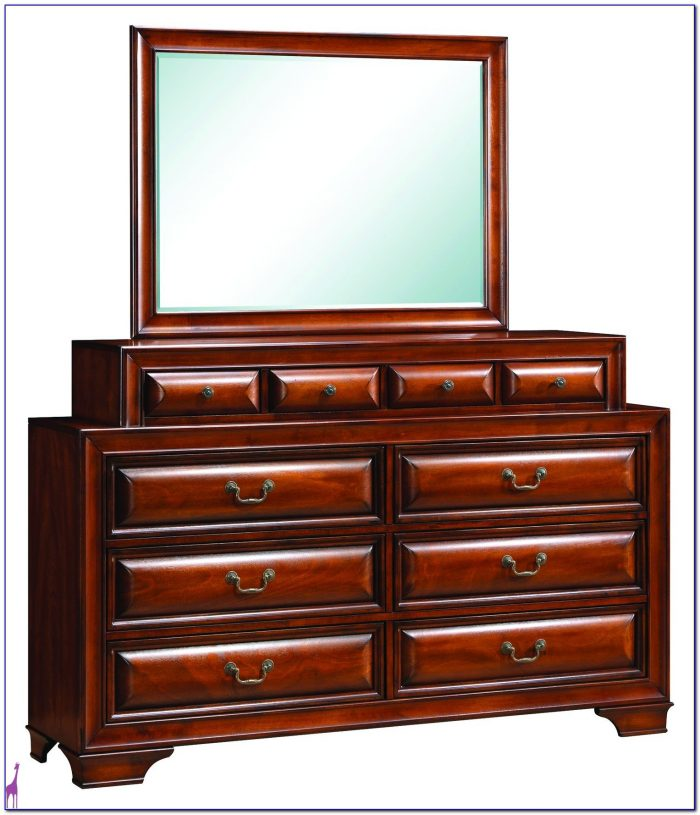 Solid Cherry Dresser With Mirror