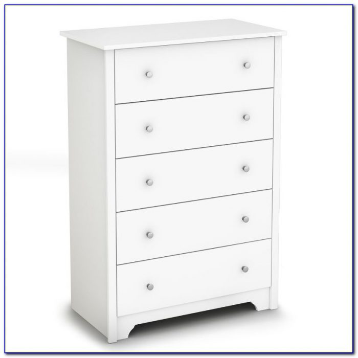 South Shore 5 Drawer Dresser White