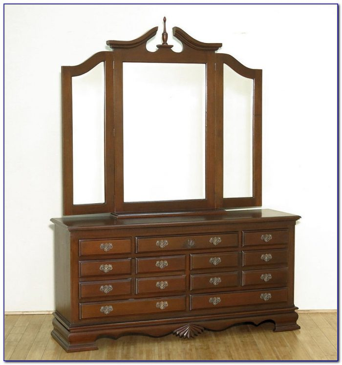 Vanity Dresser With Mirror Antique