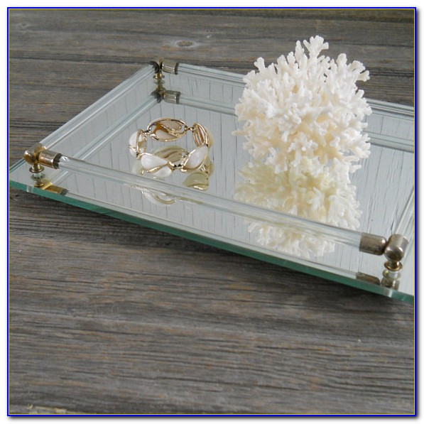 Vanity Tray Set For Dresser