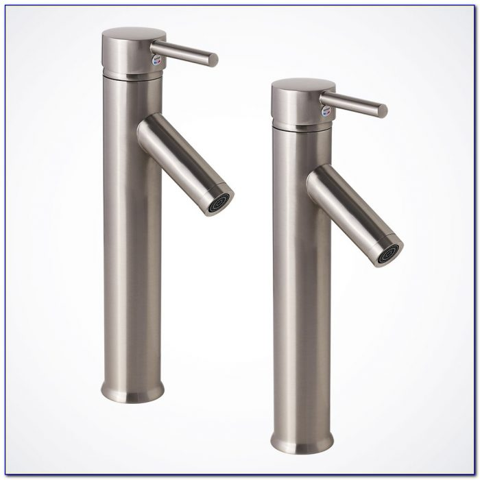 Vessel Waterfall Faucets Brushed Nickel