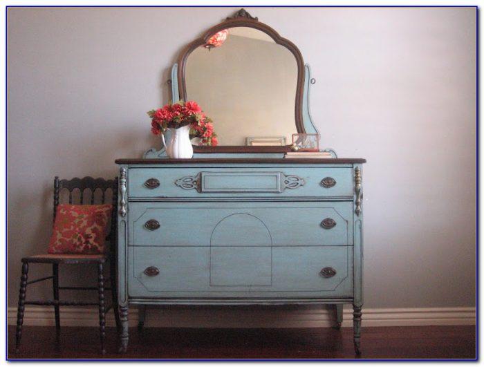 Vintage Vanity Dresser Mirror Tray