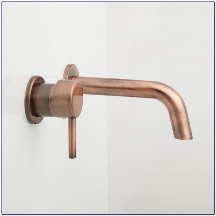 Wall Mount Bathroom Sink Faucet Bronze