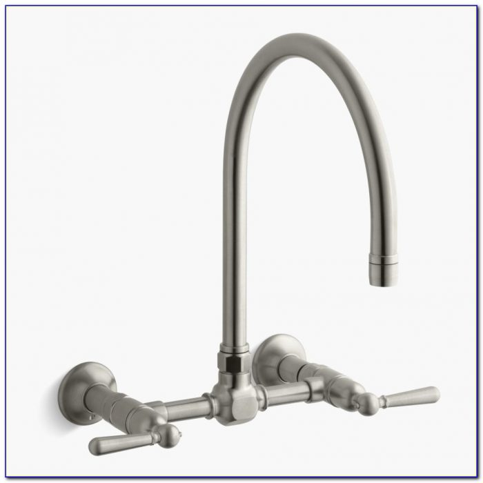 Wall Mount Kitchen Faucet With Sprayer Unique Antique Brass Wall Mounted Kitchen Faucet With Sprayer Single Hole