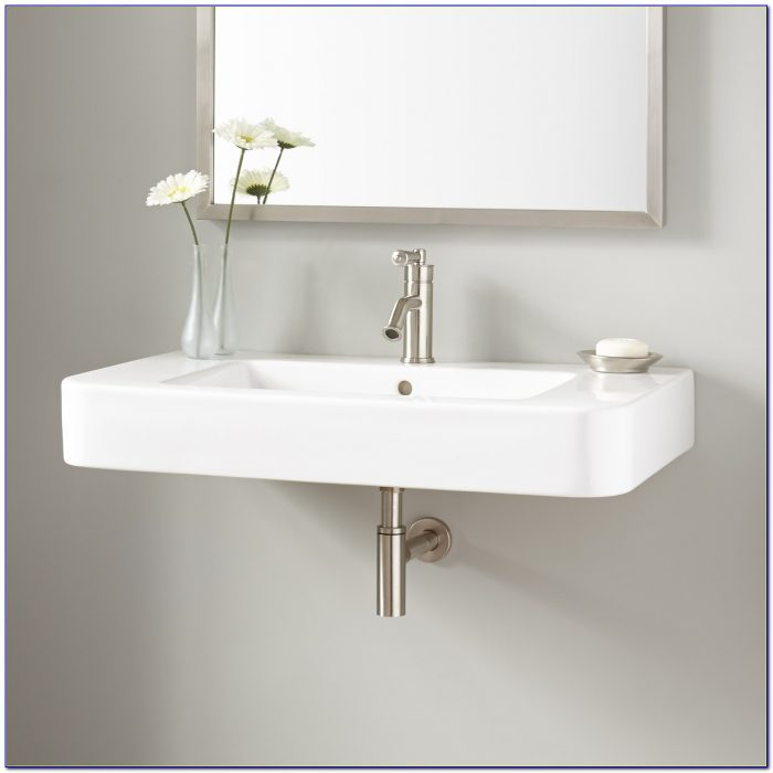 Wall Mount Sink Faucet Antique Brass