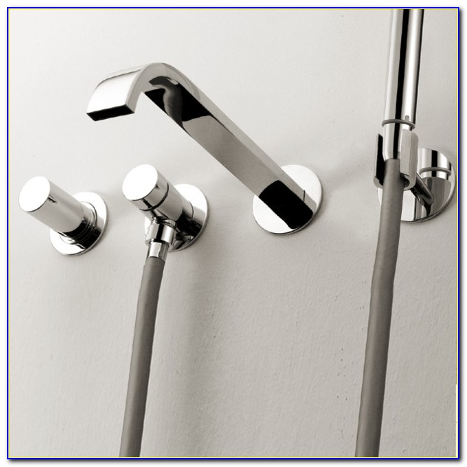 Wall Mounted Bathtub Faucets With Hand Shower