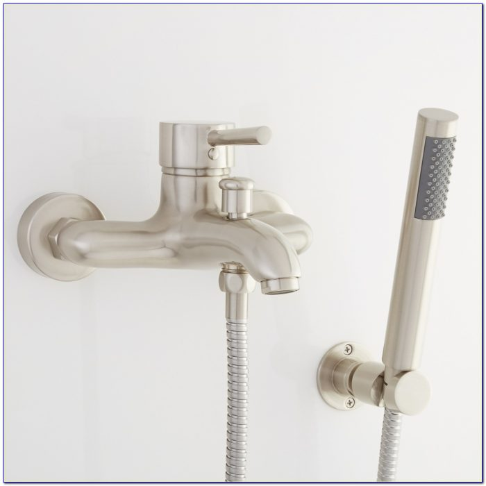 Wall Mounted Tub Faucets With Hand Shower