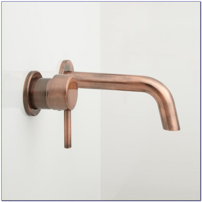 Wall Mounted Waterfall Bathroom Sink Faucets